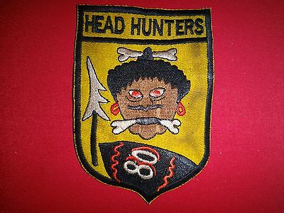 Vietnam War Patch USAF 80th Fighter Squadron HEADHUNTERS
