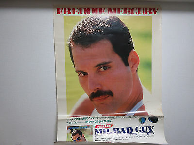 Freddie Mercury Mr. Bad Guy Japan Promo Large Colour Poster by CBS Sony Queen