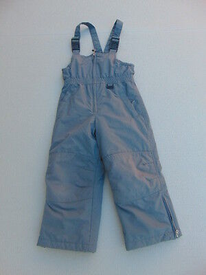 Snow Pants Childrens Size 5 Lands End Grey With Bib