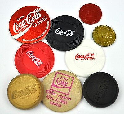 Coca-Cola Coke various Coins coins Deposit coins Token Chips USA Germany