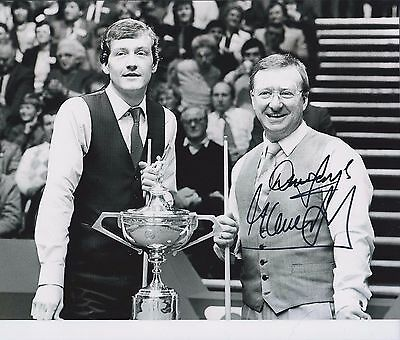 Steve Davis & Dennis Taylor SIGNED Autograph Black Ball Final Photo AFTAL COA