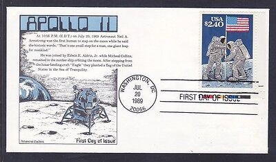 US 2419 $2.40 FDC APOLLO 11 Raising of the Flag on the Moon First Day Cover