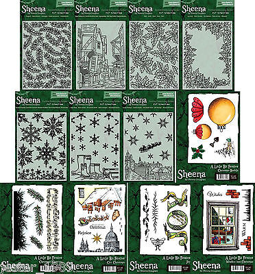 Sheena Douglass Perfect Partners A LITTLE BIT FESTIVE COLLECTION Stamps and Dies