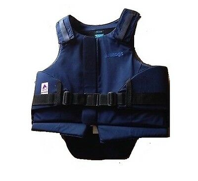 JUST TOGS Horse Riding BODY PROTECTOR Level 3 BETA 3000 Childs 30L Navy - VGC