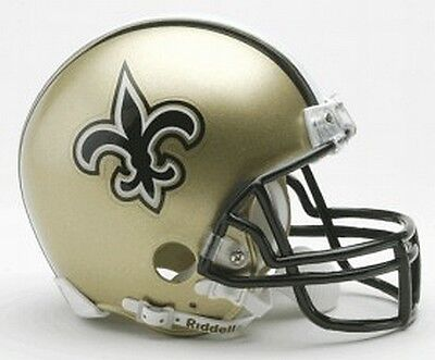 New Orleans Saints Replica Mini Helmet from Riddell,NFL Football Helm,1:2,Neu!
