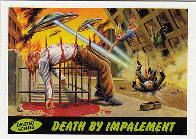 2012 Topps Mars Attacks Heritage Deleted Scenes Card #1 Death By Implement
