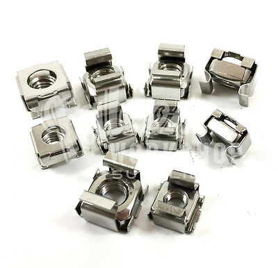 A2 Stainless M6 M8 Steel Cage Nuts For Server Rack Cabinets Pc Data Bolts Mount