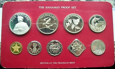 Bahamas 1985 Columbus Proof Set of 9 Coins,With Silver Coin,Proof