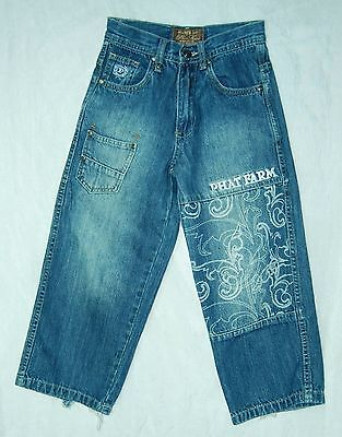 Boy's or Girl's PHAT FARM Wide Leg Embellished HIGH Waist Jeans!  6