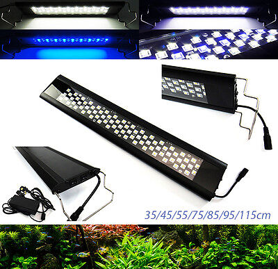 Aquarium Plant Coral Freshwater Marine Fish Tank Overhead LED Light Blue White