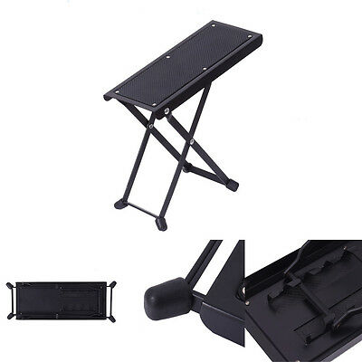 Folding Iron Guitar Foot Stool Rest-Acoustic Electric Classical Guitar Footrest
