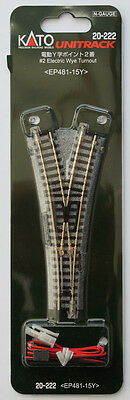 Kato 20-222 #2 Electric Wye (Y) Turnout EP481-15Y (N scale)