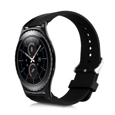 kwmobile SILICONE SPARE BRACELET FOR SAMSUNG GEAR S2 R7320 BLACK FITNESS