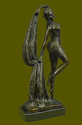 Handcrafted Collectible Bronze Statue DEAL Demetrius Chiparus Romanian Marble