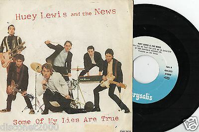 "HUEY LEWIS AND THE NEWS - Some Of My Lies Are True , SG 7"" SPAIN 1980"