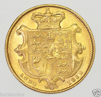 1832 SOVEREIGN, 2nd BUST, BRITISH GOLD COIN FROM WILLIAM IIII aEF