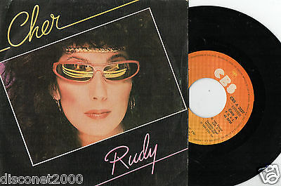 "CHER – Rudy / Do I Ever Cross Your Mind, SG 7"" RARE SPANISH PRESS 1982"