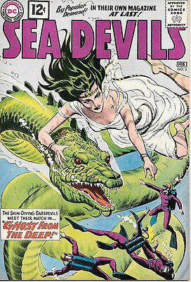 Sea Devils Comic Book #3, DC Comics 1962 FINE+