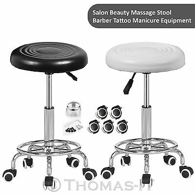 Leather Beauty Salon Barber Hairdresser Technician Massage Chair Rolling Stool