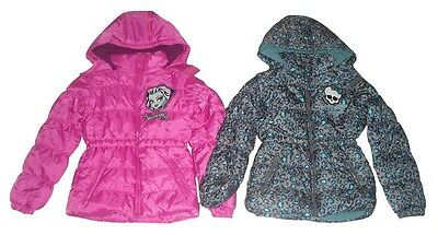 Girls Coat Padded Jacket Hooded Monster High 8-14 Years