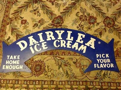 RARE DAIRYLEA Dairy Ice Cream Flavor Milk Double Arrow Arch Sign New York