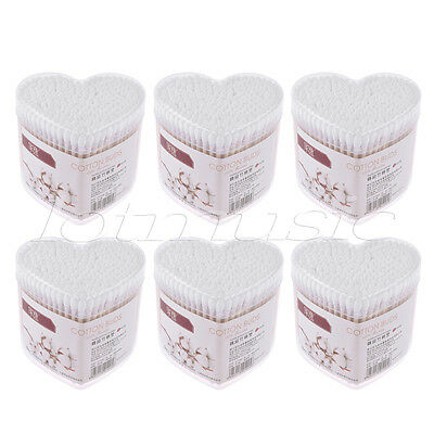 6 Sets Cotton Buds Pure Cotton Swabs for Child and Medical 460 Counts White