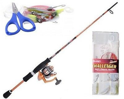 Berkley Challenger 7ft 2-4kg Plastics Rod and Reel Combo with Braid & Tackle Kit