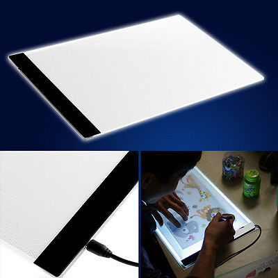 1 Set A4 LED Artist Thin Art Stencil Board Light Box Tracing Drawing Board NEW