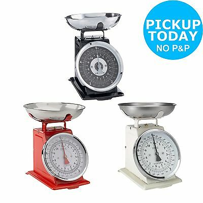 Hanson Traditional Mechanical Kitchen Scale - Choice of Black/Cream/Red :Argos