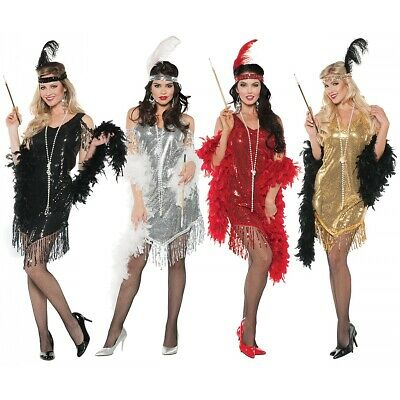 Flapper Girl Costume Adult Roaring 20s Halloween Fancy Dress