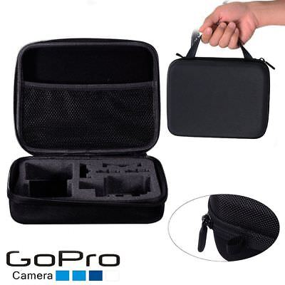 Travel Storage Camera Carry Hard Case Bag M Size Shockproof Gopro Hero 3 4 5 6