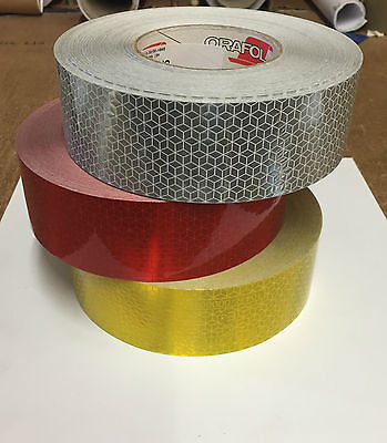BUY 1 GET 1 FREE! Oralite Reflective VC104+ ECE 104 HGV Wagon Truck Marking Tape