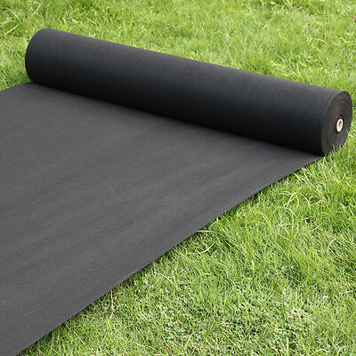 20M x 1.5M / 50gsm Weed Control Fabric Porous Membrane Rolls Ground Cover
