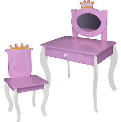 bfk kinder schminktisch friesiertisch hocker m dchen spielzeug mit mp3 anschluss eur 39 99. Black Bedroom Furniture Sets. Home Design Ideas