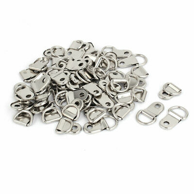 25mm x 15mm Metal D-Rings Picture Frame Strap Hanging Hangers Hooks 30PCS
