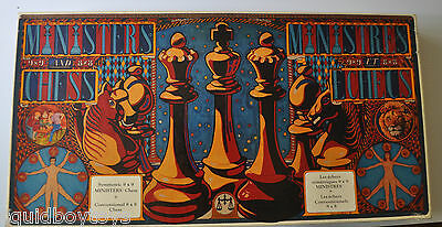 MINISTERS CHESS vintage Board Game COMPLETE Corinthian