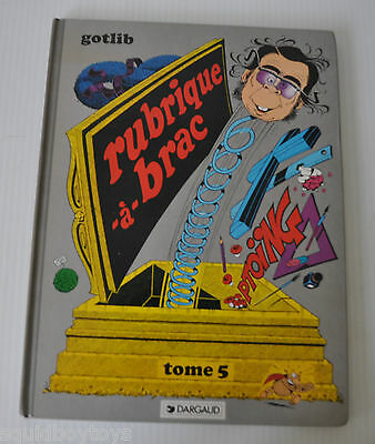 RUBRIQUE A BRAC Tome 5 BD French Comic Book GOTLIB 1979