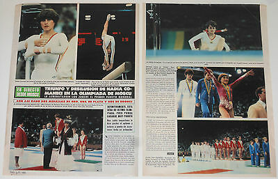 NADIA COMANECI 1980 3 page article clippings photos magazine Olympic Games