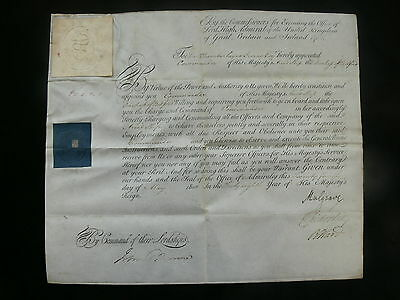 1808 & 1840 Admiralty Commissions to Capt - Served Senegal, Gorée, Texel, W.I.
