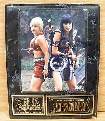 Xena Warrior Princess Lucy Lawless & Renee O'Connor Limited Edition Wall Plaque