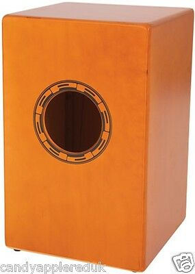Performance Percussion Pp142 Cajon Drum Inc Padded Carry Bag - Brand New