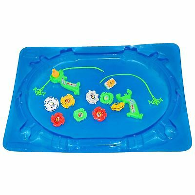 Top Bouncing Spin Plastic Fusion String Rip Cord Toy Set with Stadium Arena