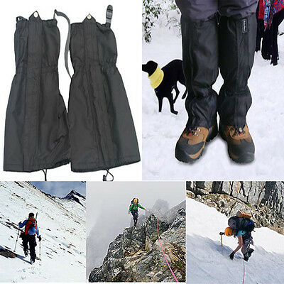 1 Pair Waterproof Outdoor Trekking Walking Climbing Hunting Snow Legging Gaiters