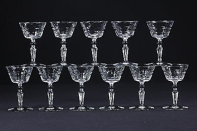11 Rock Sharpe Liquor Cocktail Goblets Elegant Cut Stems 3006-3 Pattern