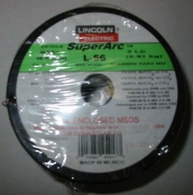 "Lincoln Superarc L-56 .025"" 2Lb Spool Mig Wire Er70S-6 Ed030583"