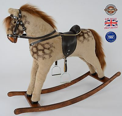"Beautiful Handmade Brand New Rocking Horse ""Titan PINTO"" from MJMARK"