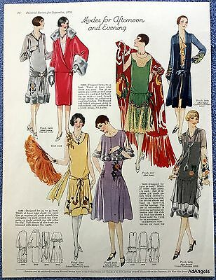 1926 Pictorial Review Afternoon Evening Dress Paris Blouses Fall Patterns ad