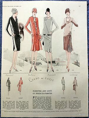 1927 McCall's Long Sleeve French Frock Dress Pattern Doucet Patou Drecoll ad