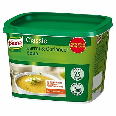 Knorr Classic Carrot and Coriander Soup 25 Portions Catering Size