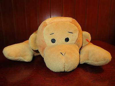 TY Pillow Pals SWINGER Brown Monkey Baby Chimp Plush Stuffed Animal 1997 Green
